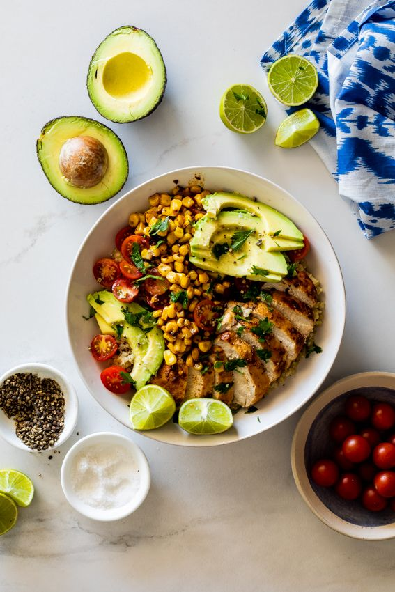 Mexican Chicken Lunch Bowls Recipe Simply Delicious Recipes