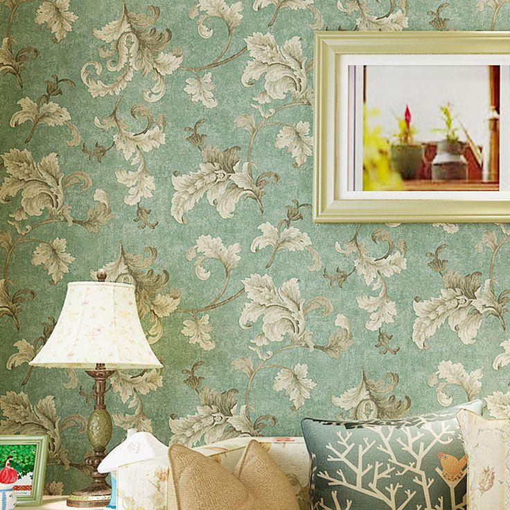 Estilo europeo y Americano retro caliente no tejido salón TV dormitorio papel pintado papel tapiz de fondo(China (Mainland))