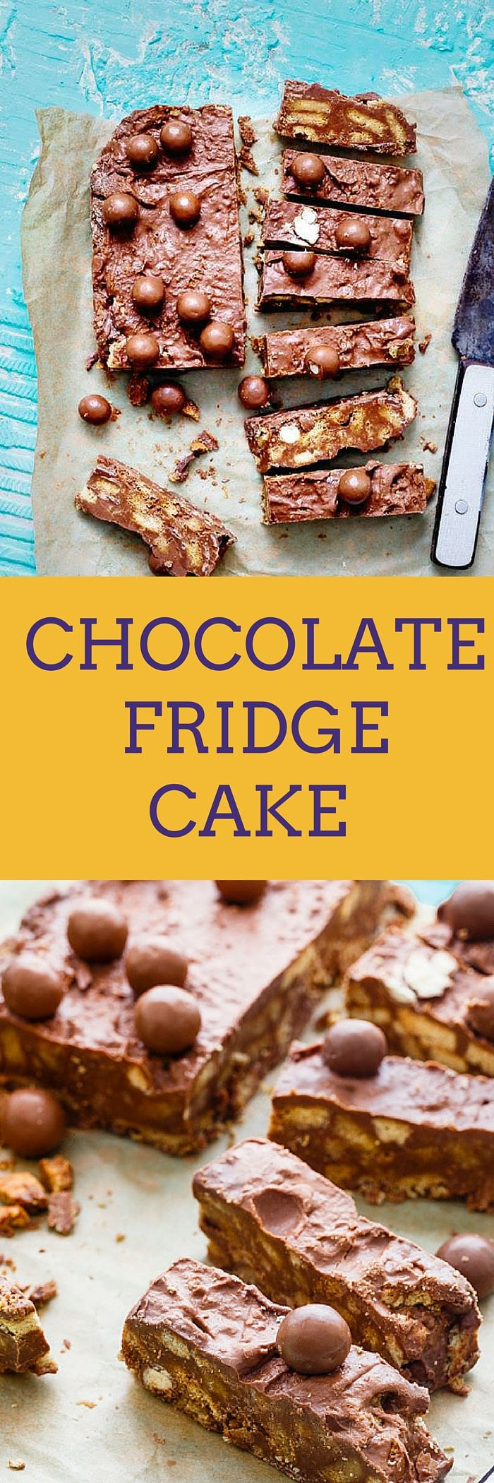 Chocolate Fridge Cake is a No Bake Eggless Cake with loaded indulgence - Chocolates, Easter chocolate eggs, Digestives, Caramel Condensed Milk & Maltesers. Isn't its deliciousness overloaded? It's a kid's friendly recipe. Make sure to get help from the little helpers at home.