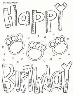happy birthday coloring page - Happy Birthday Coloring Page