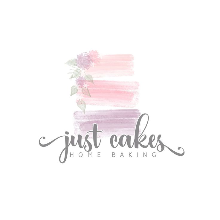 Premade logo, logo design, watermark design, bakery, cookies, mixer, bakery logo, cake logo, watercolour pastels by LadybirdLogoDesign on Etsy