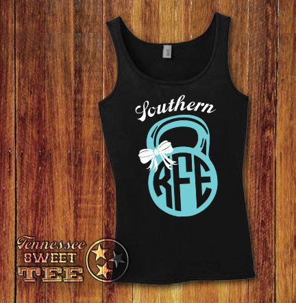 Kettle Bell Kettle Ball Monogram Southern by TennesseeSweetTee