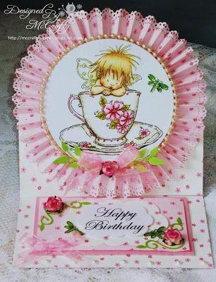 Handmade card, Hobby House Topper, Mo Manning