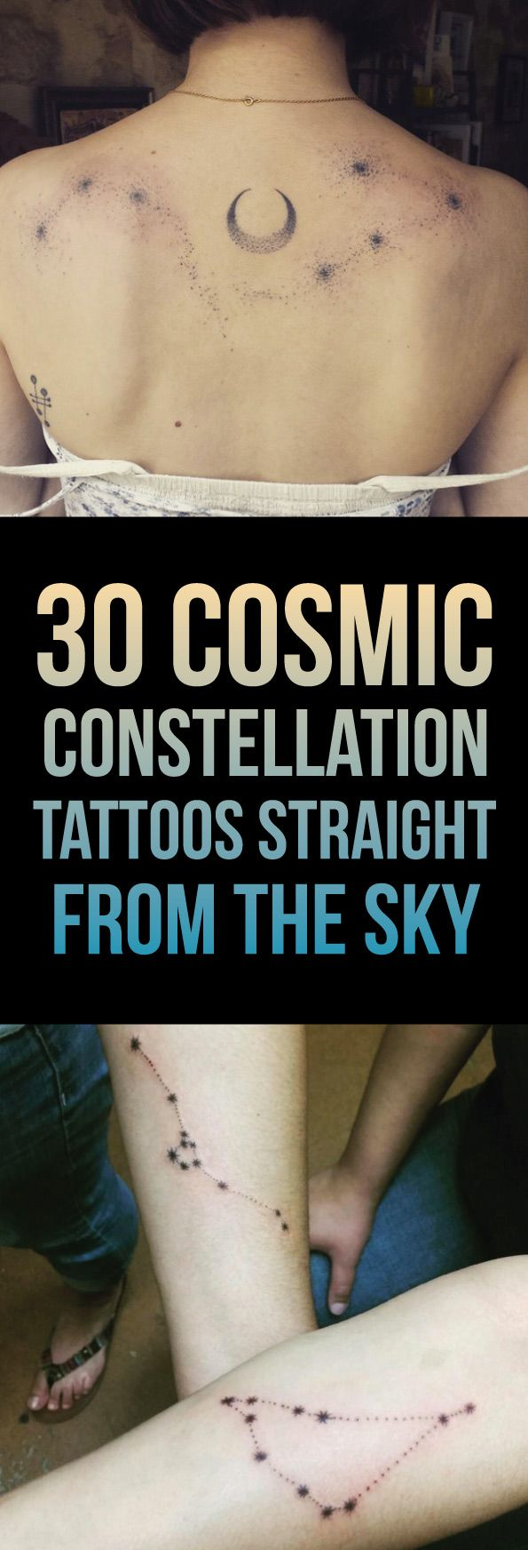 30 Cosmic Constellation Tattoos Straight From The Sky | TattooBlend