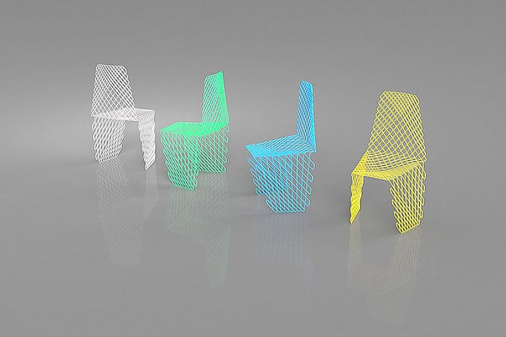 acid studio weaves together lightweight cetka chair - designboom | architecture