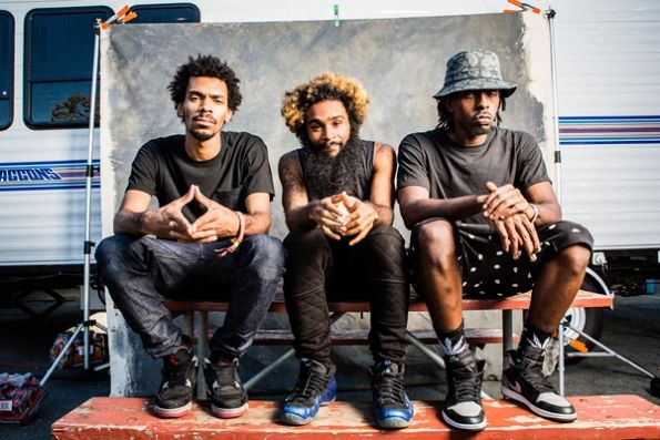 Flatbush Zombies stopped by the #RockTheBells Artist Portrait Tent in SF this past weekend. Check the whole album out at http://www.rollingstone.com/music/pictures/rock-the-bells-behind-the-scenes-20130918! [Photo Credit: Dan Prakocyk]