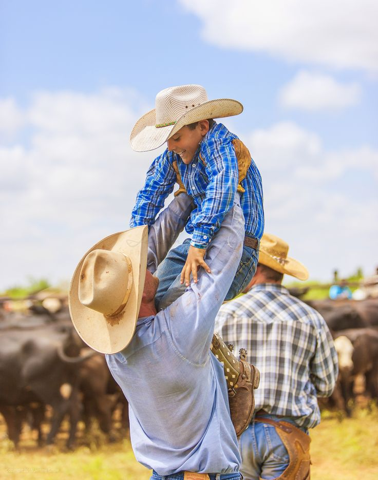 A cowboy's a cowboy, no matter how small. #ranchlife | Waggoner Ranch photographed by Jeremy Enlow
