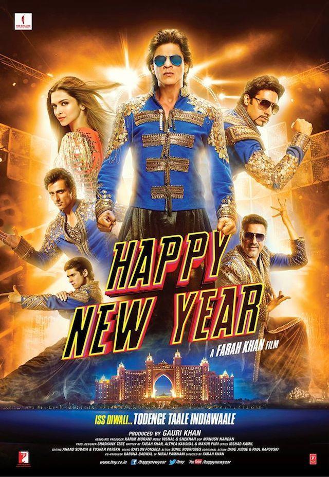 The Ultimate Happy New Year Poster: Shah Rukh Khan, Deepika Padukone, Abhishek Bachchan, Boman Irani, Sonu Sood, Vivaan Shah rock in a new look. #Bollywood #Movies #HappyNewYear