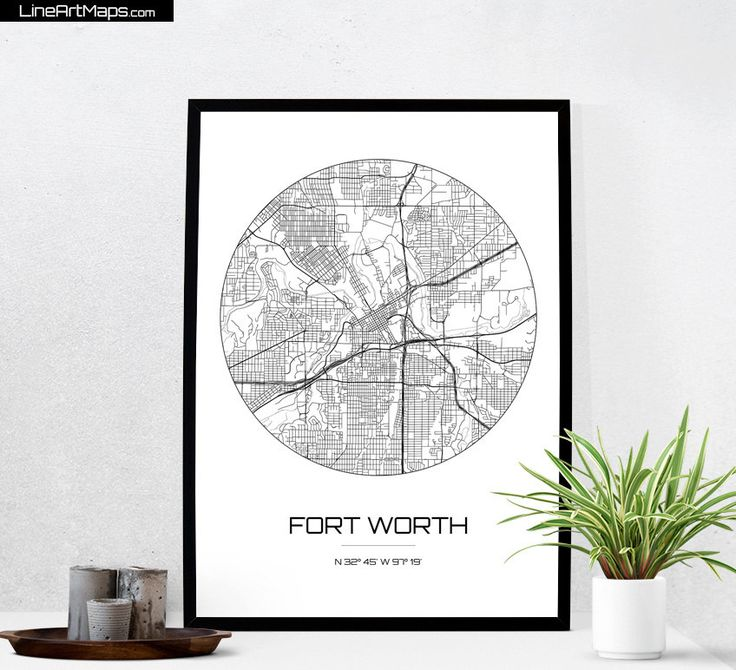 City Map Art of Fort Worth, Texas - Modern Minimalist Line Art Map Print. This clean minimalist print features the streets of Fort Worth, forming an amazing and intricate network of crisp black lines. The artwork, printed on a gorgeous bright white matte archival paper, highlights these contrasting lines, and creates an ideal gift for anyone coming from, living or dreaming of Fort Worth. It will beautifully compliment any home or office decor. This print will also look stunning as part of a…