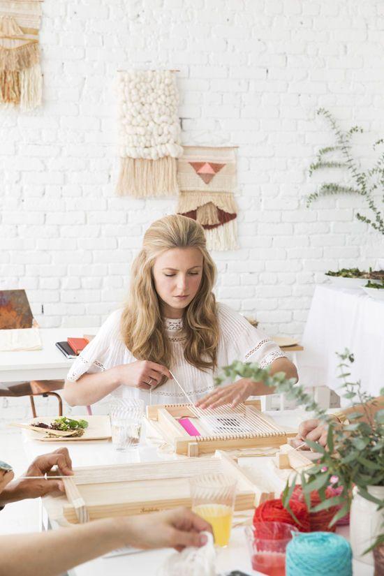 Anything creative and crafty        weaving workshop   designlovefest