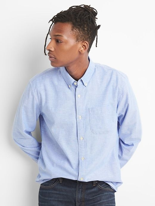 d6e37c60af2b Lived-In Stretch Oxford Shirt in 2019 | Products | Shirts, Buttons ...