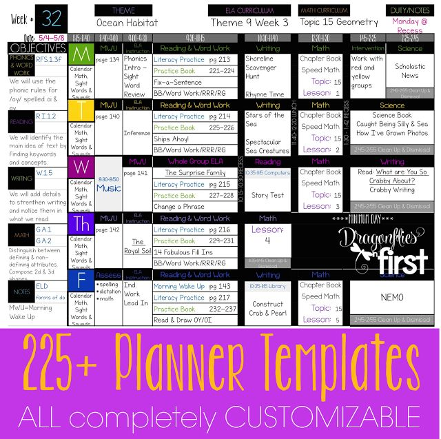225+ COMPLETELY EDITABLE planner templates. DIGITAL PLANNER - An entire year's plans in ONE file. EASY to USE. Simplify your Life #Teacherplanner #planbook #planning