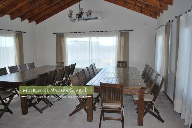 Mesa y sillas quincho mesas pinterest mesas for Sillas para quincho