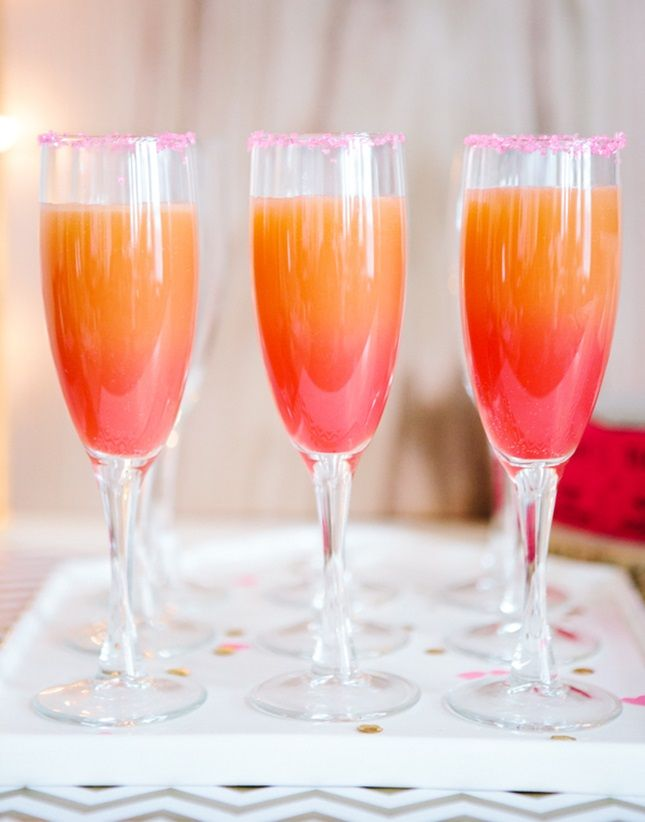 Whip up Ombre Grapefruit Mocktails with this recipe.