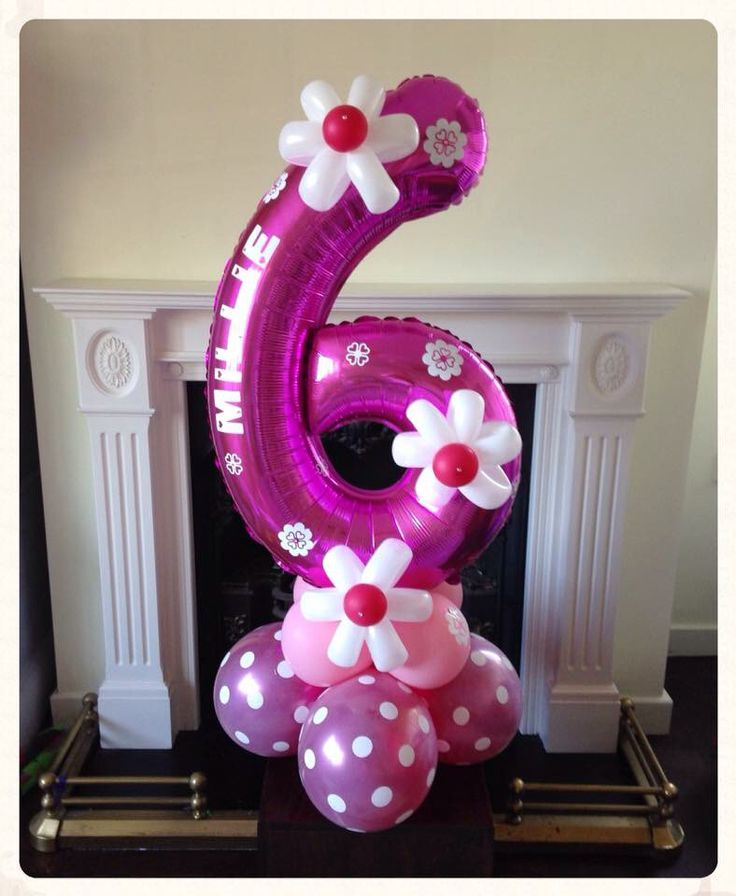 Birthday balloon created by www.balloonblooms.co.uk