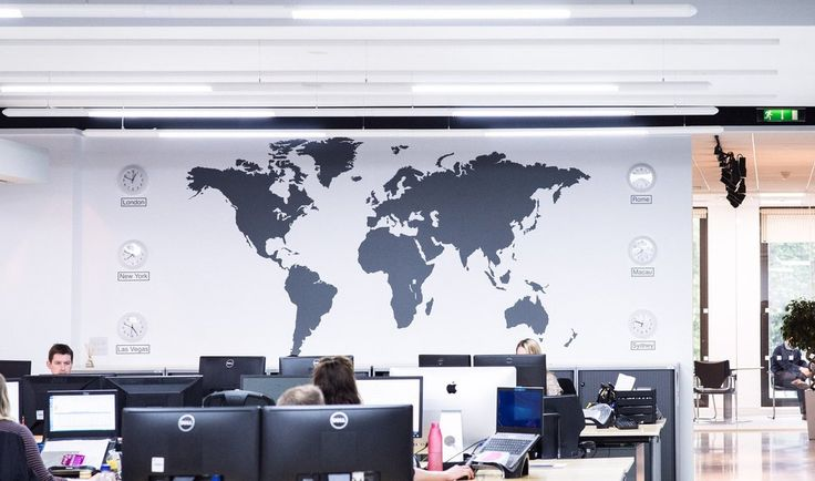 Extra Large World Map Vinyl Wall Sticker in by Vinyl Impression