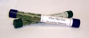 Trees can be packaged in these tubes and easily carried and mailed to friends and family around the country. What a great tribute! $4.15 each in quanity of 100. #funeralgift