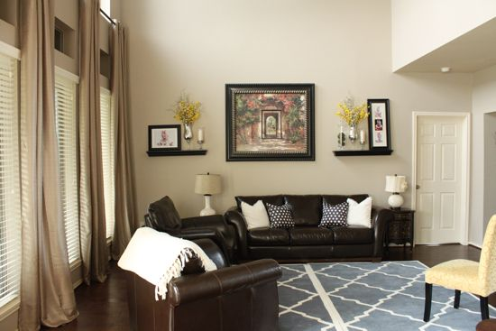 A Beautiful Living Room Makeover {by Emily from Decor Chick!}-Balanced Beige by Sherwin Williams