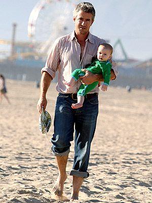 Dermot Muroney with kid