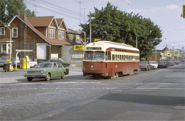 TTC Street Car on the Carlton Line, 1971
