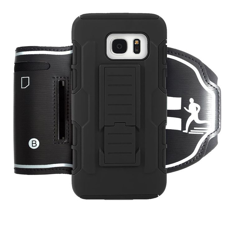 Galaxy S7 Edge Armband Case, WCS Outdoor Sport Running Armband & Phone Case Cover with Phone Stand Holder and Adjustable Strap for Samsung Galaxy S7 Edge, Galaxy S7 Edge Case Included. Armband & Phone Case Set: This case not only can be used as armband, but also a phone case. Outdoor sport phone accessory set let you enjoy sport easily. Fit Galaxy S7 Edge perfectly. Professional Armband: Adjustable strap lengths allow you adjust the suitable length easily, keeping the phone stable. Key…
