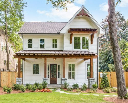 Farmhouse Exterior Colors ansley street residence.' thrive homes, home builders, atlanta, ga