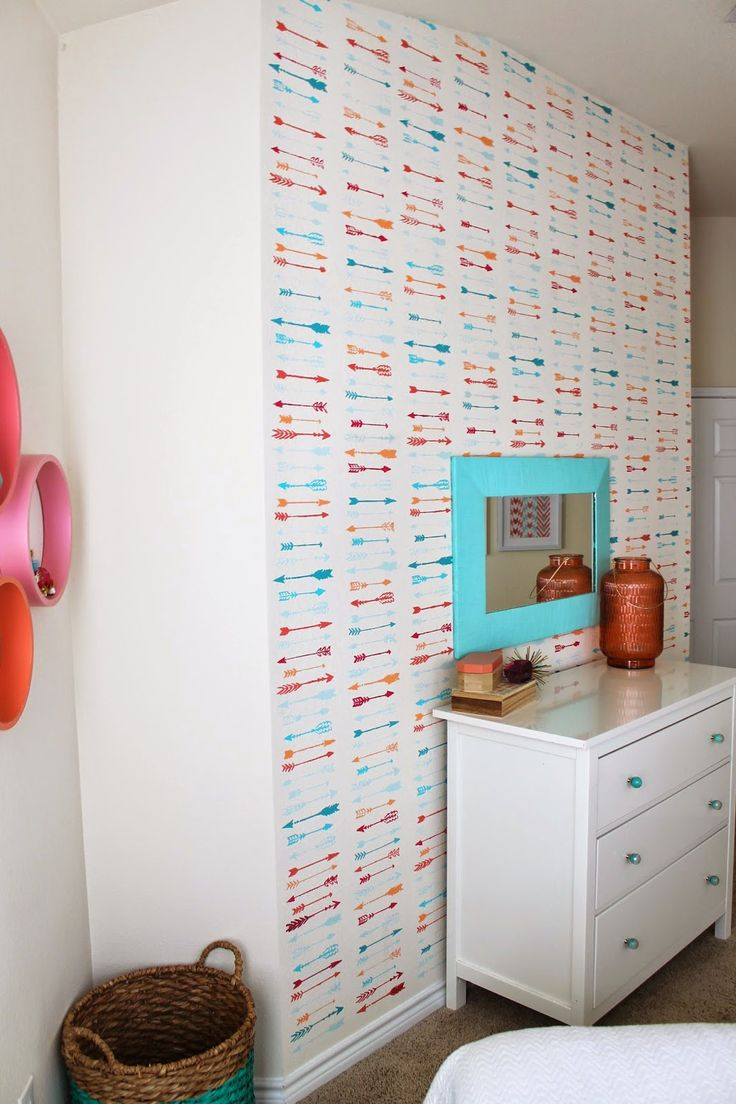 34 best beads allover stencil images on pinterest cuttings arrow wall treatment colorful yet simple perfect for a temporary space easy to amipublicfo Images