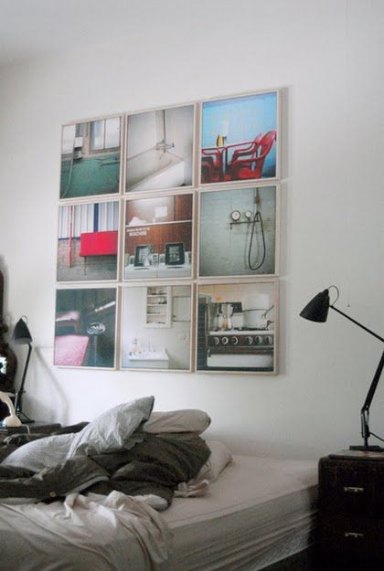 Everyday photos in same size simple frames