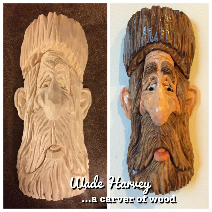 An old tree man refrigerator magnet.