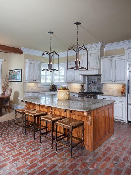 Red Brick Flooring Kitchen Kitchenflooringbrick