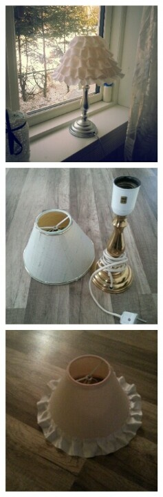 Diy lamp! Spraypaint lamp with silver spray.