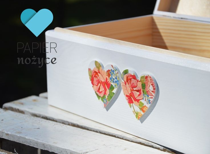 "Personalizowany kufer na koperty ślubne""ROSE box II"""