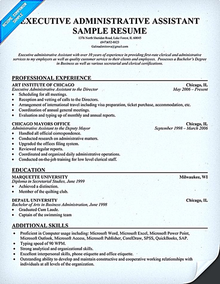 10 Best Best Executive Assistant Resume Templates & Samples Images
