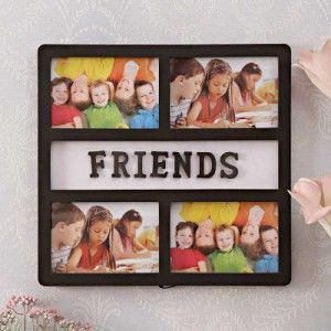 Buy Friends Theme 4-in-1 Collage Photo Frame Online at low prices. Shop wide range of Gifts for husband ,boyfriend ,girlfriend ,wife . COD & Free Shipping all over India.