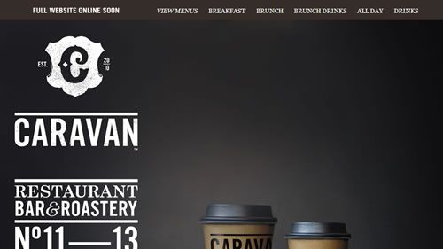 This site has been updated but both designs are very funky and warm. The current site http://www.caravanonexmouth.co.uk/ has a really friendly feel with the side scroll, to the roastary . Way cool. #webdesign #coffee #awesome #design