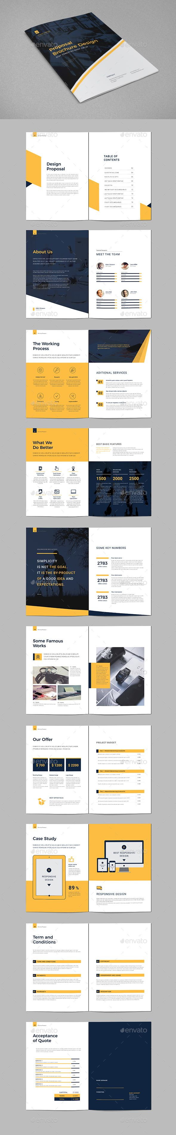 Proposal Brochure Template InDesign INDD