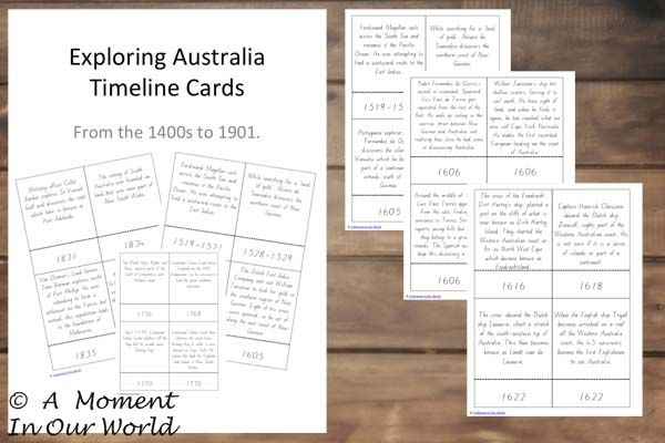 Australian Exploration Cards - A Moment in our World