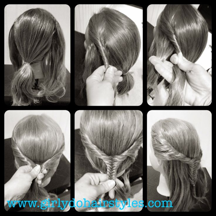 Girly Do Hairstyles By Jenn Fishtail Twisted Pull Back