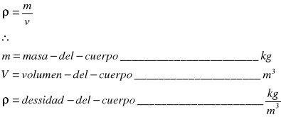 Las propiedades de la materia: masa, volumen, densidad y estados  de agregación.