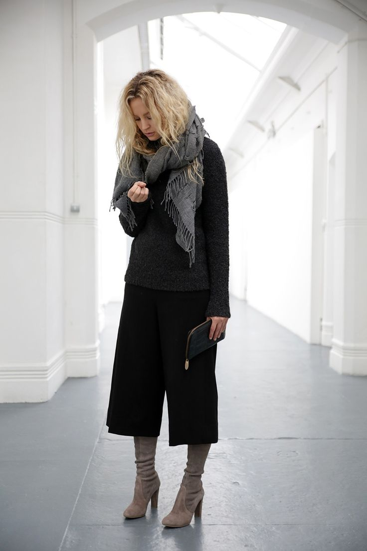 How to wear Culottes in Winter - Anouk Yve | Creators of Desire - Fashion trends and style inspiration by leading fashion bloggers