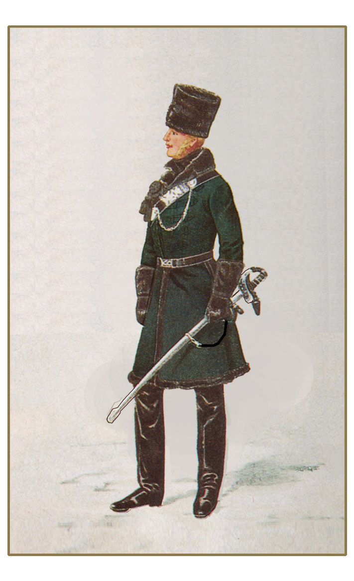 British; King's Royal Rifle Corps, Officer, Canada, Winter, 1846 by P.J.Reynolds
