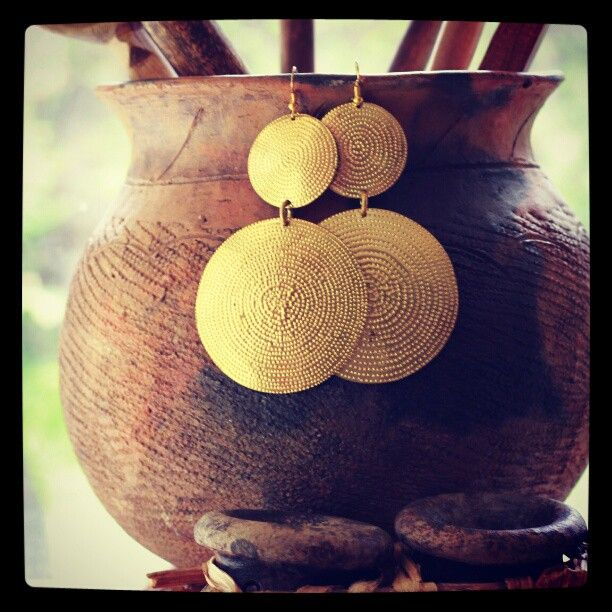 The Gong Earrings from The Afropolitan Shop $18