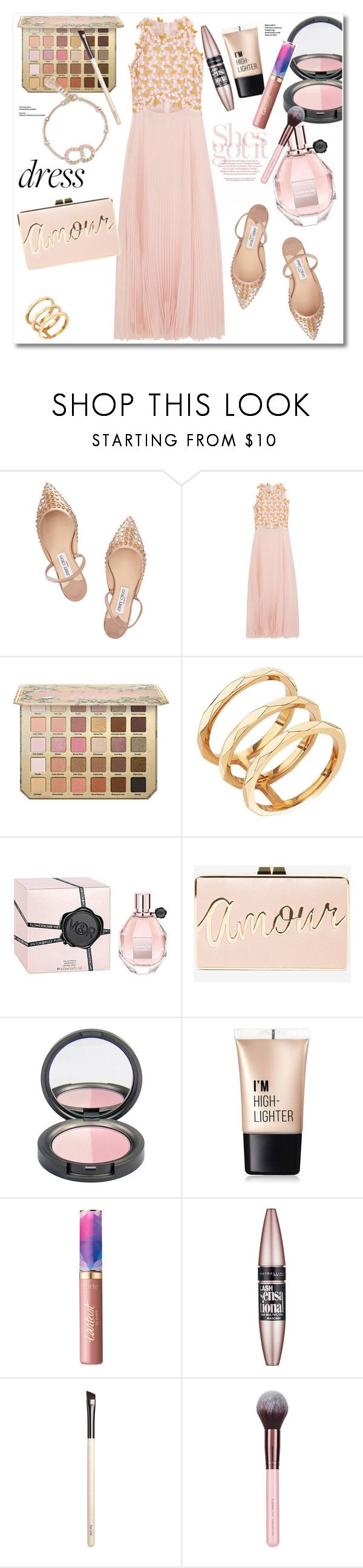 """""""Get the look"""" by vkmd ❤ liked on Polyvore featuring Jimmy Choo, Giambattista Valli, Edge of Ember, Viktor & Rolf, BCBGMAXAZRIA, Charlotte Russe, tarte, Maybelline, Chantecaille and dreamydresses"""