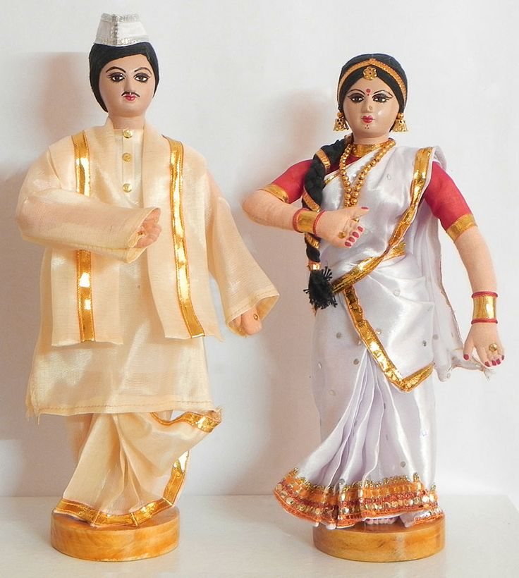 Couple from Assam, India  - Costume Cloth Dolls