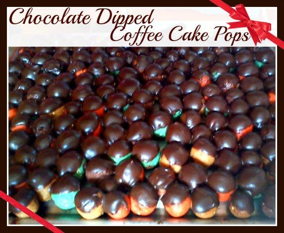 Chocolate Dipped Coffee Cake Pops - Anna Can Do It!