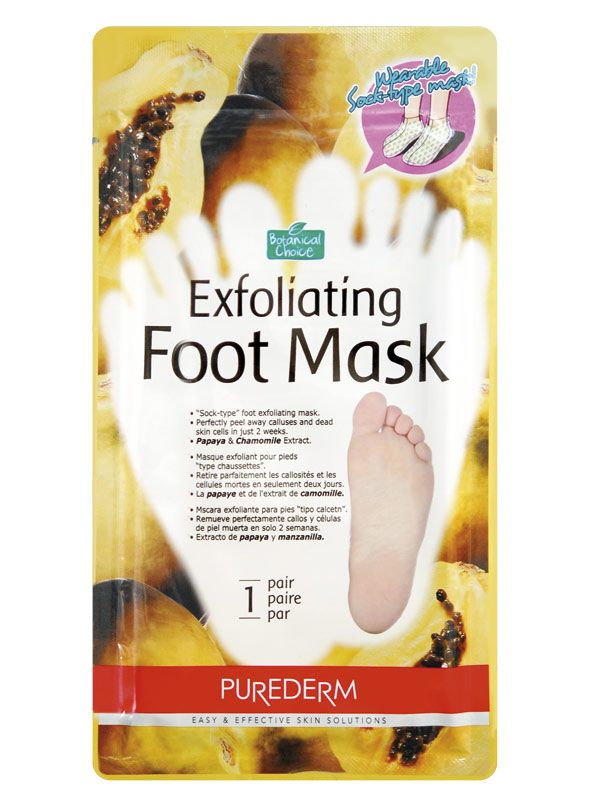 Mască exfoliantă pentru picioare   cod - vic59160     Exfoliere intensă' pentru tălpile crăpate şi uscate!  Îndepărtează eficient bătăturile și pielea aspră de pe suprafața tălpilor.  Design deosebit.  Șosete din folie material plastic.  Pachetul conține un singur tratament de unică folosință.  UTILIZARE:  1. Cu ajutorul unui foarfece, deschideți pachetul în care se află tratamentul.  2. Pe picioarele curate și uscate, aplicați tratamentul. Masca trebuie să fie în contact cu talpa…