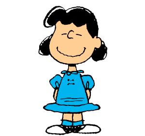 Lucy van Pelt - First appeared March 3, 1952. Known around the neighborhood (and by her little brother, Linus) for being crabby and bossy, Lucy can often be found dispensing advice from her 5-cent psychiatrist's booth, yanking away Linus' security blanket, or humiliating Charlie Brown. Lucy's only weakness? Her unrequited love for the piano-playing Schroeder.