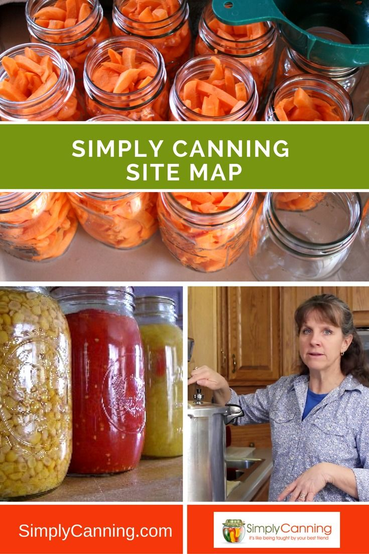 This site map to Simply Canning is a simple list of all my pages according to category. A table of contents that will grow with my site. http://www.simplycanning.com/canning-site-map.html