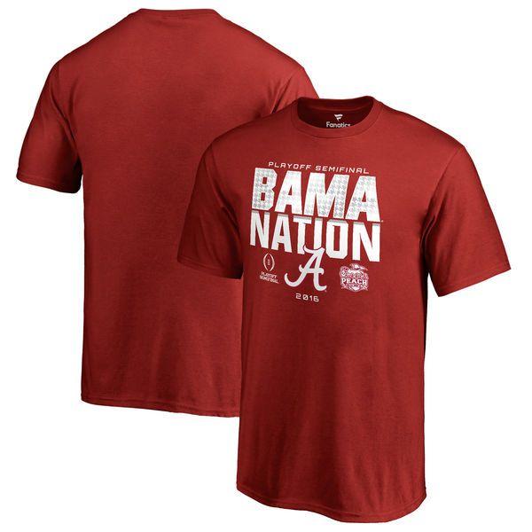 Alabama Crimson Tide Fanatics Branded Youth College Football Playoff 2016 Peach Bowl Bound Nation T-Shirt - Crimson - $21.99