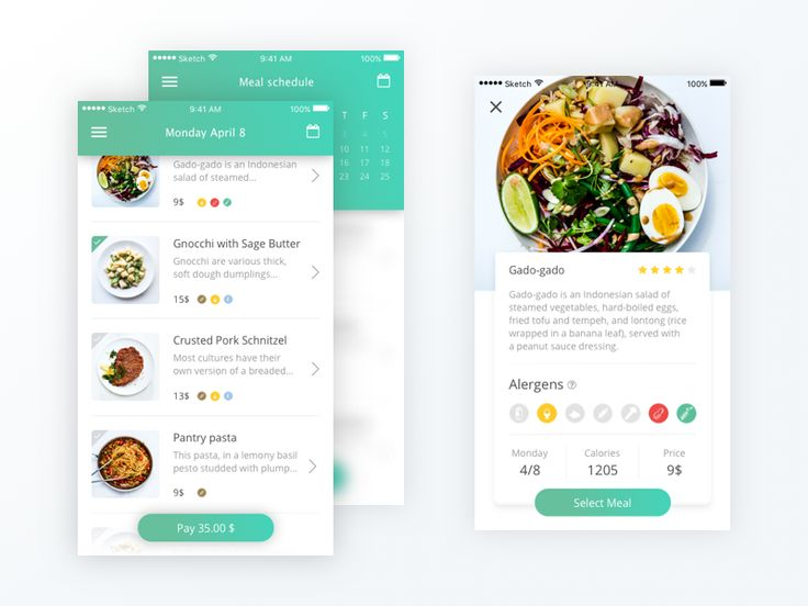 Food delivery app (Daily UI #012) by Eliška Plitzová